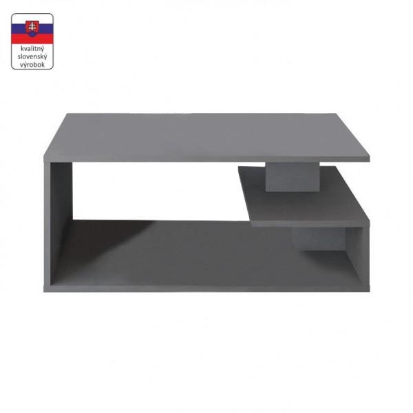 TEMPO KONDELA Konferenčný stolík, sivá grafit, MARSIE M11
