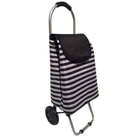 Brilanz Nákupná taška na kolieskach Čierny pruh, 87 cm