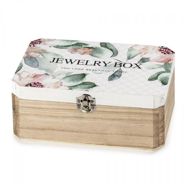Drevený box na šperky so zrkadlom Santini