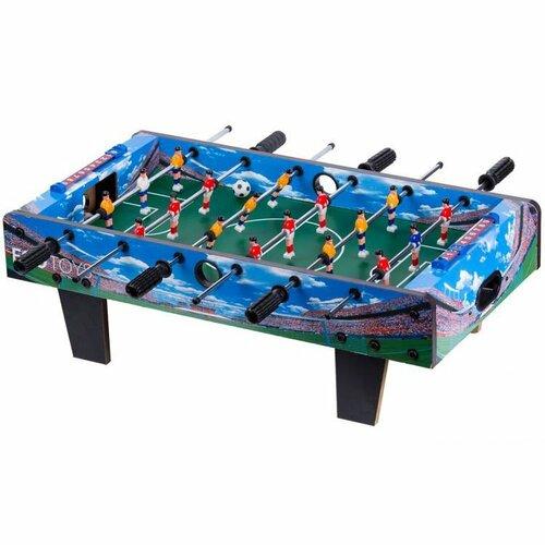 ECOTOYS Stolní fotbal 70x36cm modrý