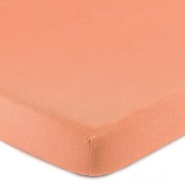 4Home Jersey prestieradlo s elastanom lososová, 180 x 200 cm