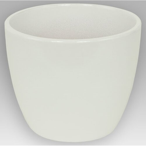 Keramický obal na kvetináč Pomba biela, 13,5 cm