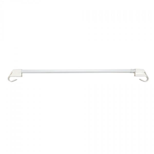 Gardinia Vitrážna tyčka vzperná biela, 45 - 75 cm