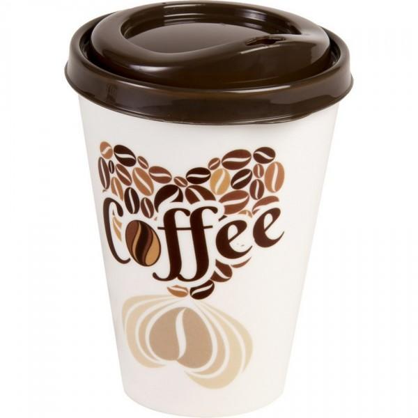 FAVE Téglik na kávu s viečkom 0,43 l, 9x13 cm