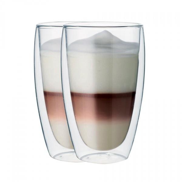 Maxxo Cafe Latte 2-dielna sada termo pohárov, 380 ml,