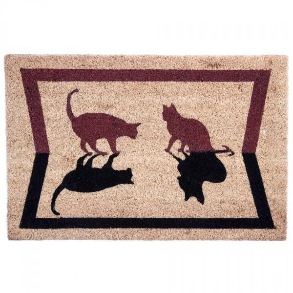 BO-MA Kokosová rohožka Mačky tieň, 40 x 60 cm