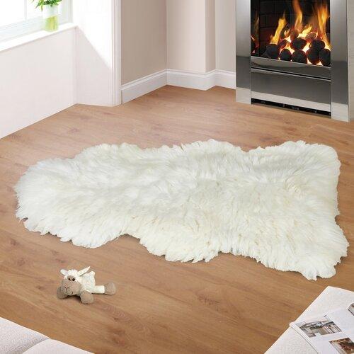 Bellatex Vlnená predložka Kožušina biela, 110 - 120 cm