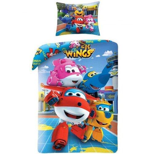 Halantex Detské bavlnené obliečky Super Wings 5507, 140 x 200 cm, 70 x 90 cm