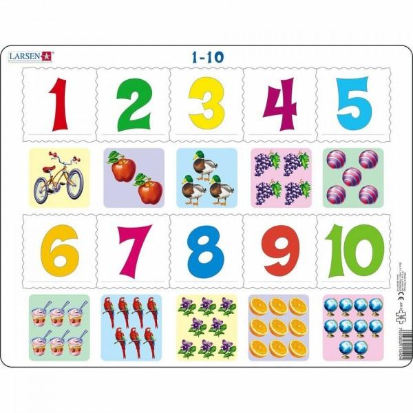 Larsen Puzzle Počítanie pre najmenších, 10 dielikov