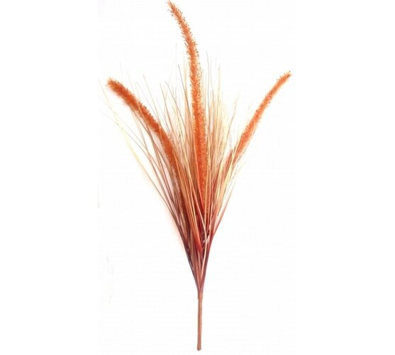 Umelá kytica trávy oranžová