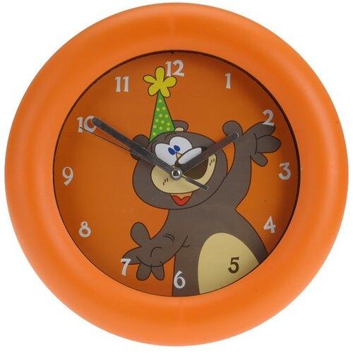 Nástenné hodiny Teddy bear oranžová, 26 cm