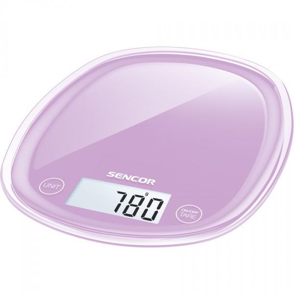 Sencor SKS 35VT kuchynská váha, fialová,