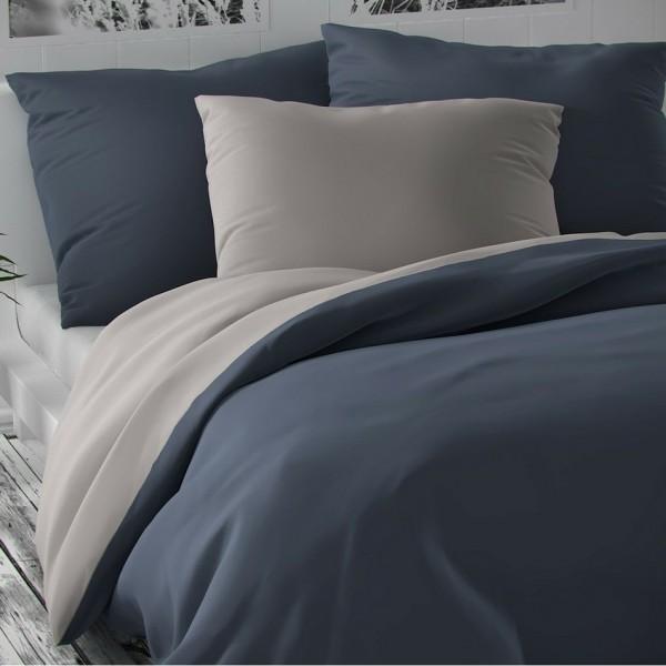 Kvalitex Saténové obliečky Luxury Collection svetlosivá/tmavosivá, 240 x 220 cm, 2 ks 70 x 90 cm