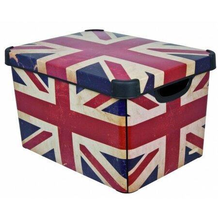 Úložný box dekoratívny L BRITISH FLAG, Curver