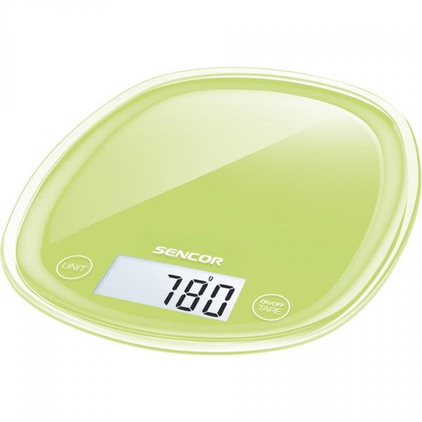 Sencor SKS 37GG kuchynská váha, zelená,