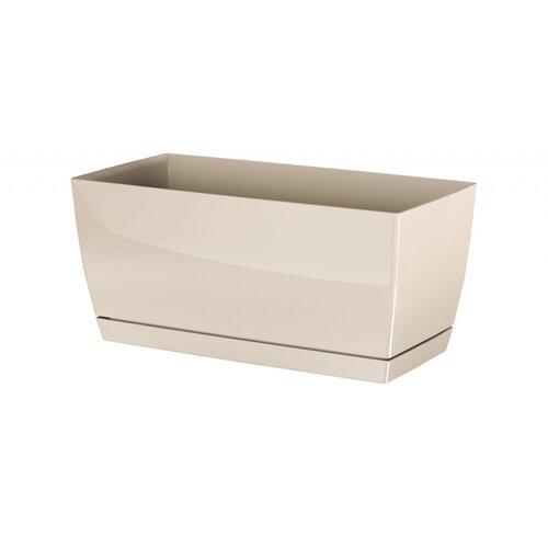 Prosperplast Plastový truhlík Coubi Case s miskou krémová, 39 c, 39 cm