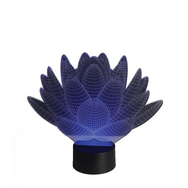 Sharks 3D LED lampa Lotosový kvet