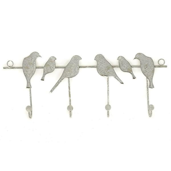 Nástenný vešiak Vtáčiky 4 háčiky, 41,5 cm
