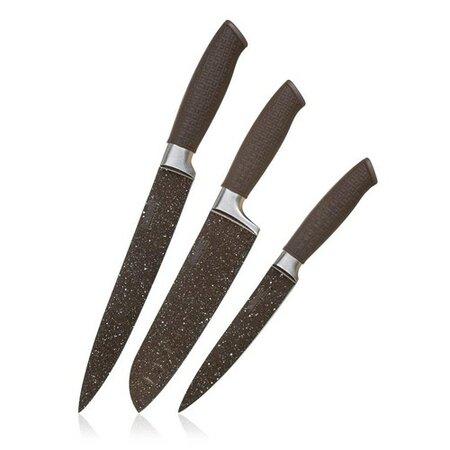 Banquet 3-dielna sada nožov s nepriľnavým povrchom PREMIUM Dark Brown, 3 ks