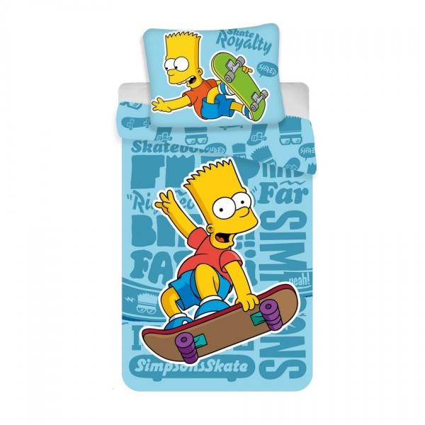 Jerry Fabrics Detské bavlnené obliečky Bart blue 02, 140 x 200, 70 x 90 cm