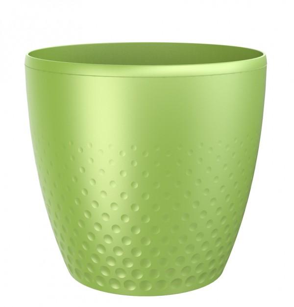 Plastový kvetináč Perla 25 cm, zelená, Plastia