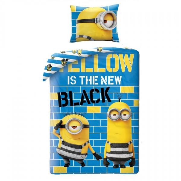 Halantex Detské bavlnené obliečky Já padouch Mimoni Yellow is the new Black, 140 x 200 cm, 70 x 90 cm
