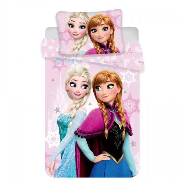 Jerry Fabrics Detské bavlnené obliečky Ľadové Kráľovstvo do postielky Frozen baby pink, 140 x 200 cm, 70 x 90 cm