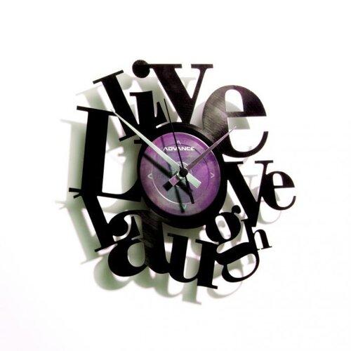 Discoclock 007 Live love laugh nástenné hodiny,