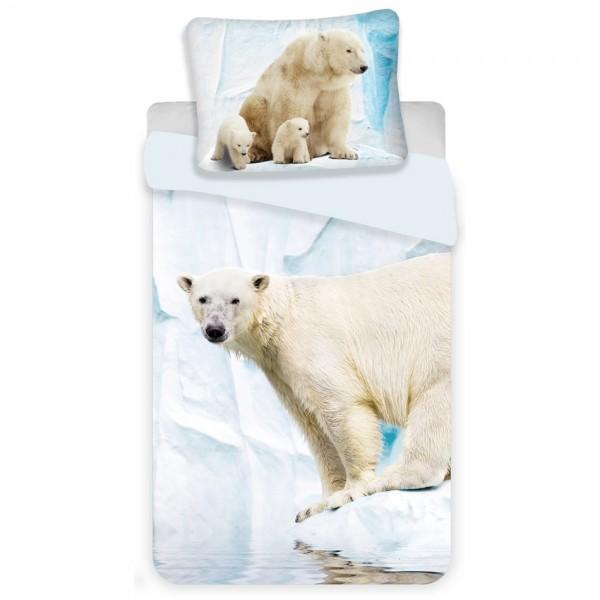 Jerry Fabrics Detské bavlnené obliečky Polar Bear, 140 x 200 cm, 70 x 90 cm