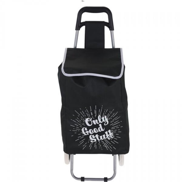 Koopman Nákupná taška na kolieskach Only Good Stuff, čierna