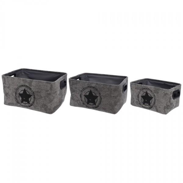 Koopman Sada dekoračných úložných boxov Star in Target, 3 ks