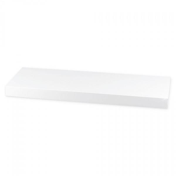 Nástenná polička lesklá 60 cm, biela, 60 cm