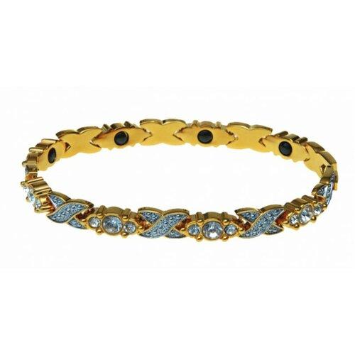 Modom Magnetický náramok s kamienkami, zlatá