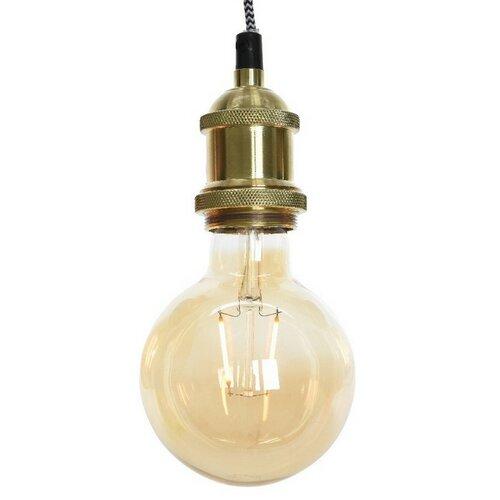 Hliníkové závesné svietidlo Konya zlatá, pr. 5 cm
