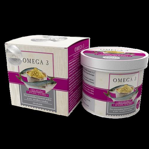 Topvet Bylinný extrakt Omega-3, 60 toboliek