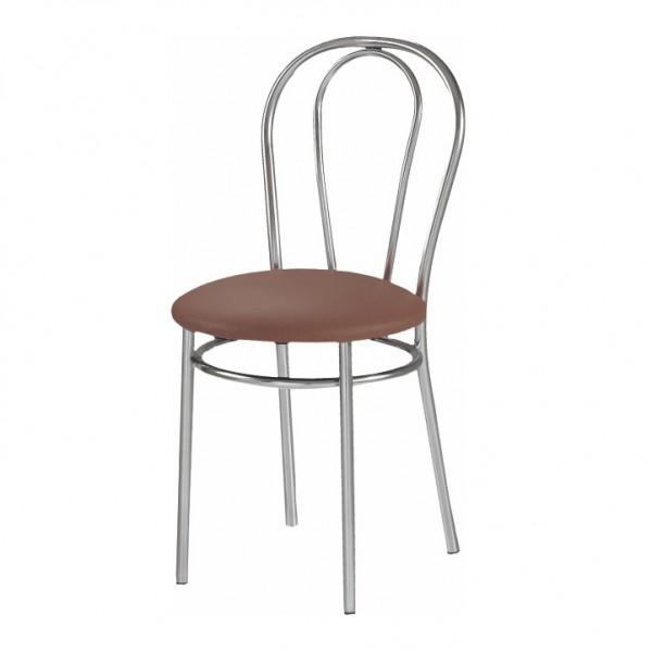 Stolička, hnedá ekokoža, TULIPAN
