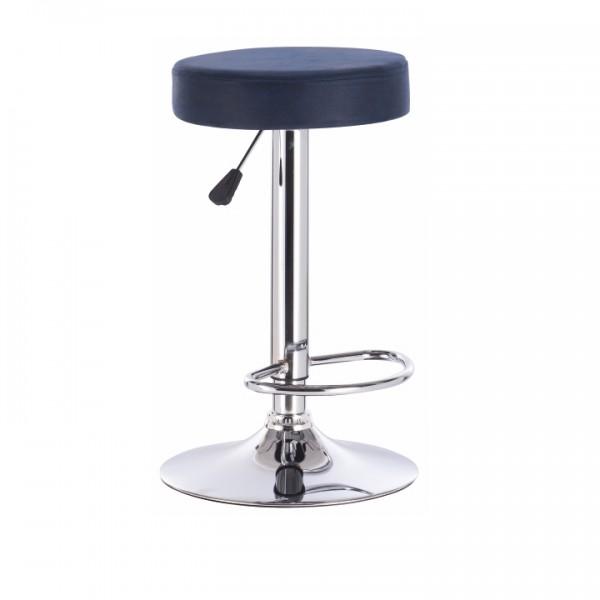 Barová stolička, petrolejová látka s efektom brúsenej kože, GALVIN