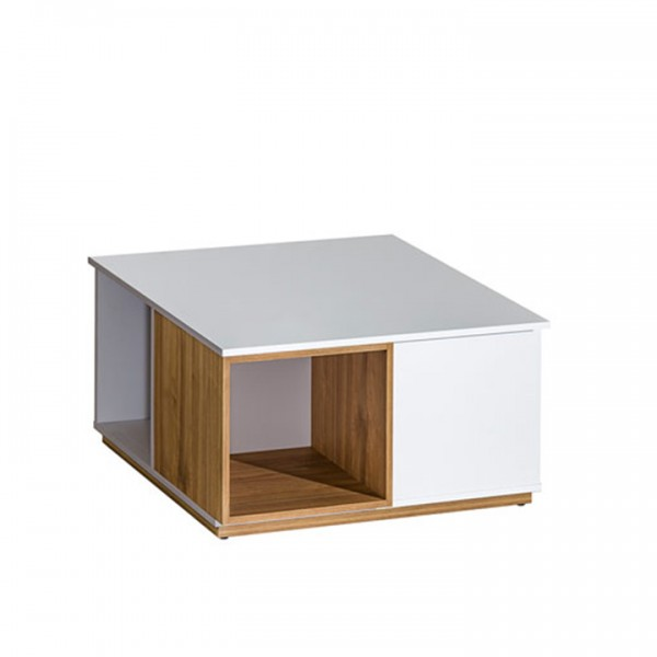 TEMPO KONDELA Konferenčný stolík, orech select/biela, KNOX E13