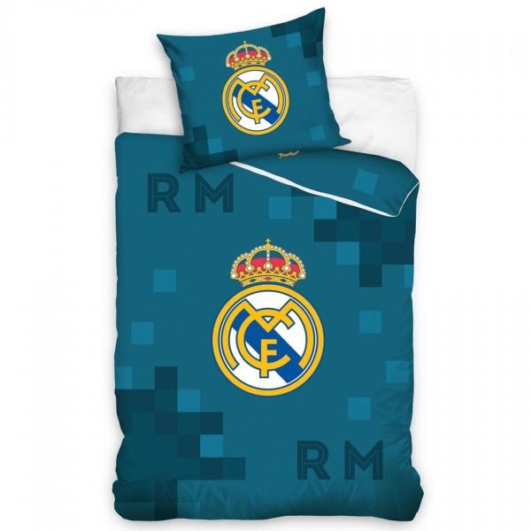 Carbotex Bavlnené obliečky Real Madrid Dados Blue, 140 x 200 cm, 70 x 90 cm