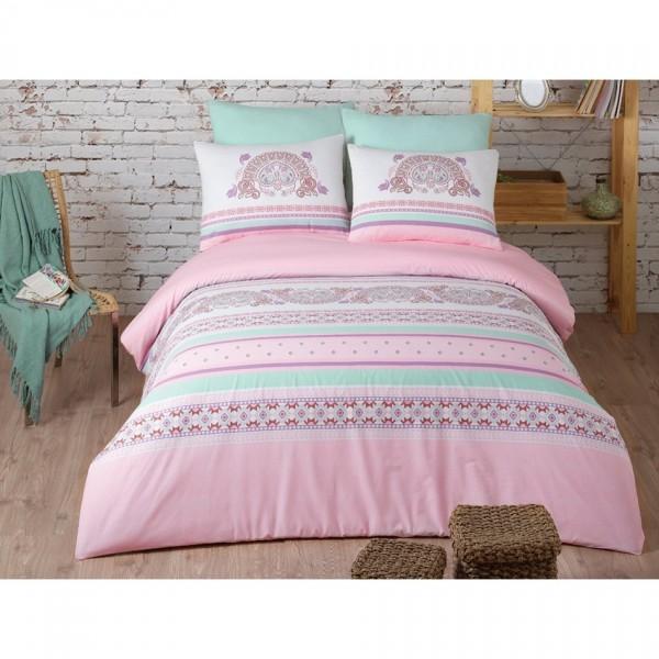 BedTex Bavlnené obliečky Electra Pink, 140 x 200 cm, 70 x 90 cm + 50 x 70 cm