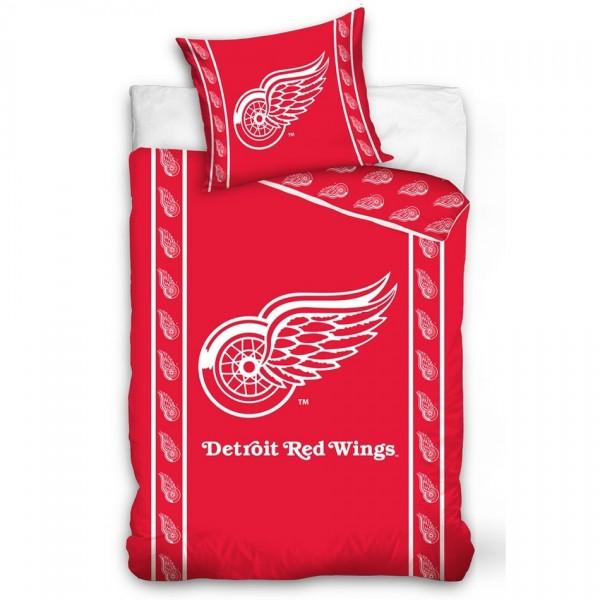 BedTex Bavlnené obliečky NHL Detroit Red Wings Stripes, 140 x 200 cm, 70 x 90 cm