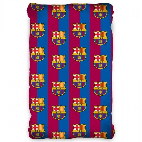 TipTrade Bavlnené prestieradlo FC Barcelona, 90 x 200 cm