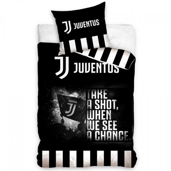 Carbotex Bavlnené obliečky Juventus Take a Shot, 140 x 200 cm, 70 x 90 cm