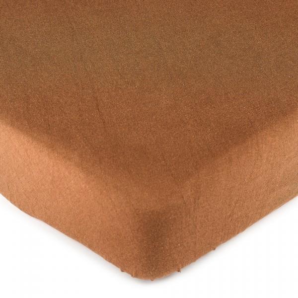 4Home jersey prostěradlo hnedá, 90 x 200 cm