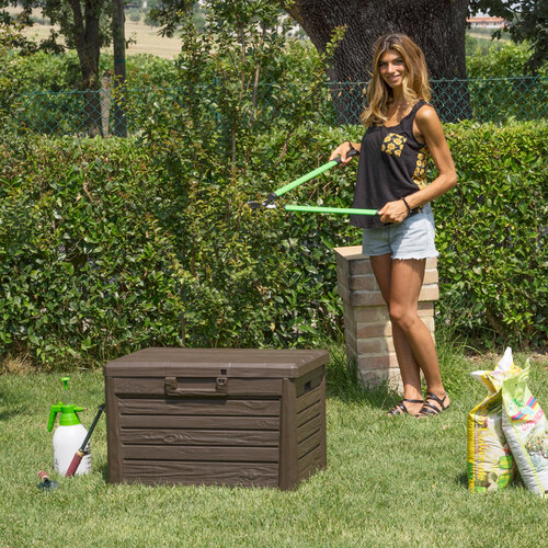 Florida Záhradný úložný box na podušky a náradie MALÝ - Hnedá