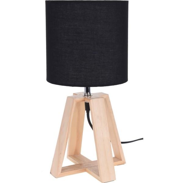 Koopman Stolná lampa Idaho, čierna