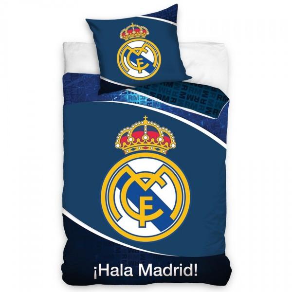 Carbotex Bavlnené obliečky Real Madrid Dark Blue, 140 x 200 cm, 70 x 90 cm