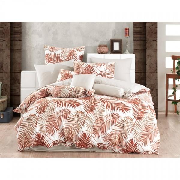 BedTex Bavlnené obliečky Palms Brown, hnedá, 140 x 200 cm, 70 x 90 cm