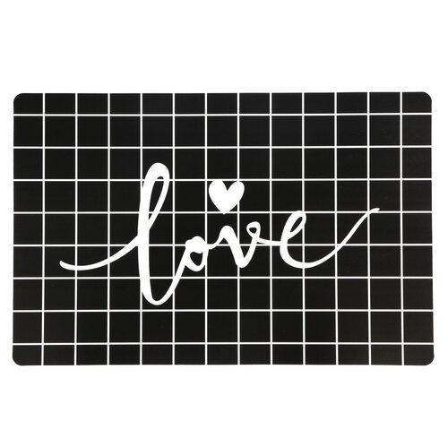 Altom Prestieranie Love Black, 28 x 43 cm, sada 4 ks