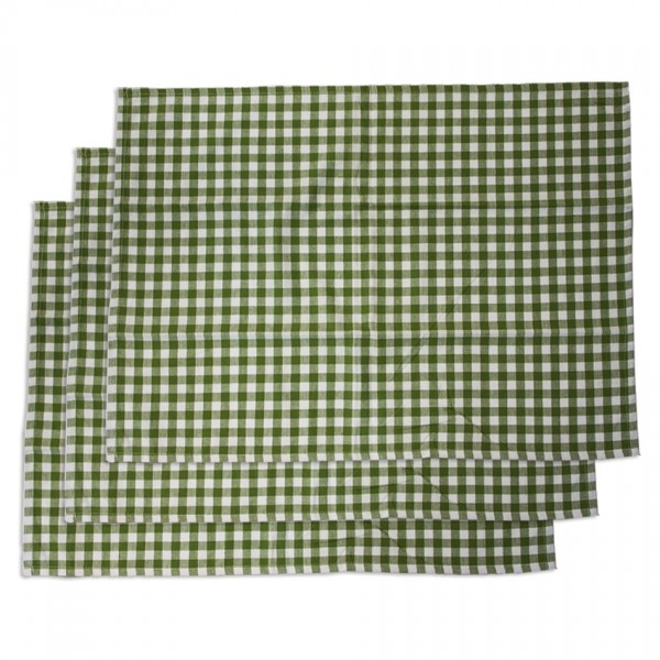 Trade Concept Kuchynská utierka Kocka zelená, 50 x 70 cm, sada 3 ks